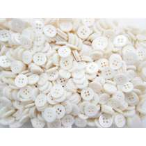 12mm Pearl White Fashion Buttons FB157- 10 Button Bundle