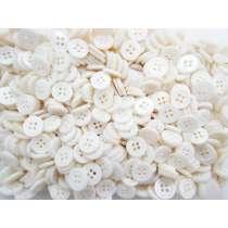 12mm Pearl White Fashion Buttons FB157- 10 Button Bundle