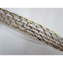 Silver & Gold Foil Braided Trim