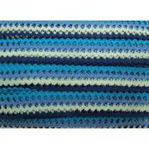 33mm Crochet Waves Trim- Ocean Blues #205