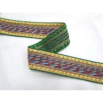 Library Room Braided Trim- Green
