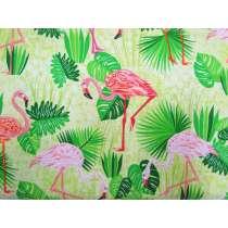 Flamingo Paradise Cotton- Lime #50