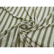 Plant Life Stripe Silk Jersey #2722