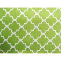 Quatrefoil Cotton- Lime #PW1130