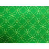 Wavy Quatrefoil Cotton- Very Green #PW1129