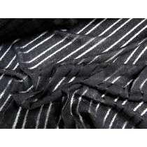 Textured Self Stripe Knit- Black