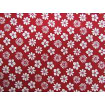 Dizzy Daisy Cotton- Red #2786