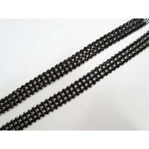 Black Diamante Rhinestone Trim Pieces- 2 for $5