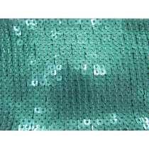 9cm Wide Glomesh Sequin Trim- Aquamarine