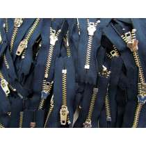 Zipper Bundle- 100 Zips- 6cm Closed End Metal- Navy