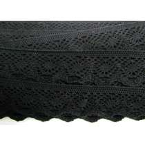 37mm Cotton Lace Trim- Noir Black #481