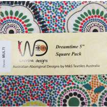 Dreamtime 5 inch Square Charm Pack- Multi Colour Theme