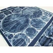 92cm Map Panel- Vintage Blueprints Cotton- #18372
