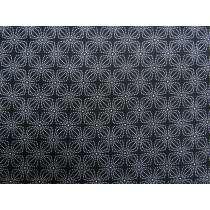 Black & White Cotton- Star Flower #0157-80690
