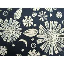 Ruby Star Society Cotton- Golden Hour- Zinnia- Navy #12