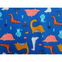 Dino Days Cotton- Blue #2888