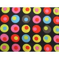 Dots in Spots Cotton- Black #2916