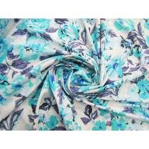 Breezy Blue Floral Spandex #4862