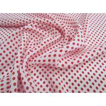 Ditsy Flower Spot Silk Viscose Blend CDC- Red #4049