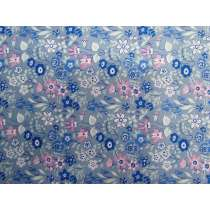 Liberty Cotton- Silver Bells- 5920B- Blue- The Deco Dance Collection