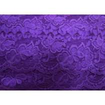 85mm Giselle Stretch Floral Lace Trim- Purple #259