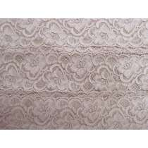 55mm Josephine Stretch Floral Lace Trim- Dusty Rose #267