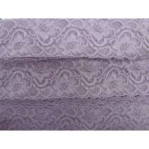 55mm Josephine Stretch Floral Lace Trim- Mauve #265