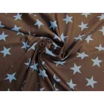 Star Power Shiny Spandex- Chocolate/Sky #2937
