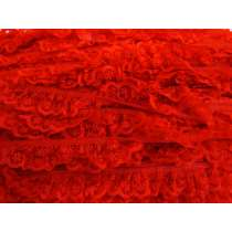 24mm Penelope Lace Frill Trim- Red #287