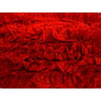 30mm Olivia Lace Frill Trim- Red #290