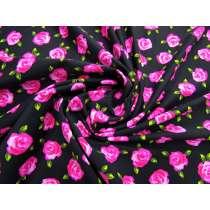 Rosa Floral Spandex- Black #2955