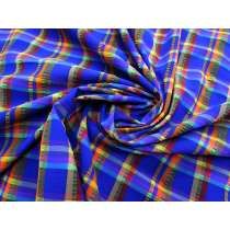 Pool Party Check 2-Way Stretch Nylon Woven #2958