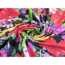 Luscious Tropical Paradise Spandex- Black #2959