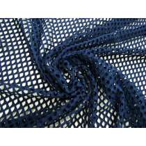 Stretch Fishnet Mesh- Navy #4943