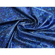 Dark Shattered Glass Spandex- Royal on Black