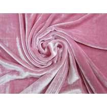Silk Viscose Velvet- Parisian Pink #3000