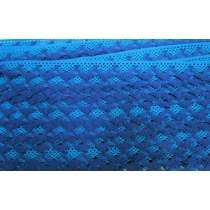 20mm Ziggy Cotton Lace Trim- Blue #302