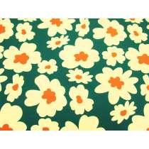 Maxi Mod Flower Cotton- Green / Yellow #4980