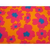 Maxi Mod Flower Cotton- Orange / Pink #4981