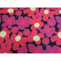 Tutti Frutti Flower Cotton- Red / Pink #4985