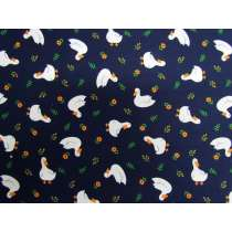 Lucky Ducky Cotton- Navy #PW1206