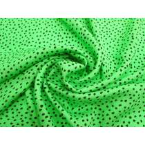 Freckled Spot Crinkle Satin Back Crepe- Acid Green #3010