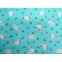Lucky Ducky Cotton- Aqua Blue #PW1208