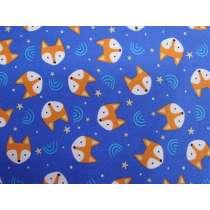 Fantastic Foxes Cotton- Blue #PW1210