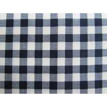 10mm Gingham Cotton- Navy #PW1211