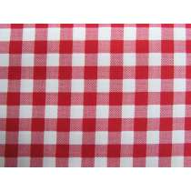 10mm Gingham Cotton- Red #PW1213