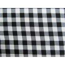 10mm Gingham Cotton- Black #PW1214
