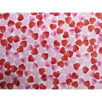 Confetti Hearts Cotton- White PW1271