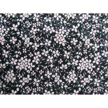 Floweret Cotton- Black #PW1268
