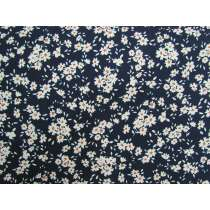 Fields Of Daisies Cotton- Navy #PW1255
